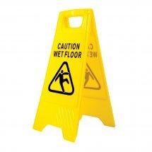 Предупредителен знак за мокър под