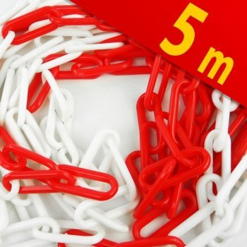 Червено-бяла верига  PVC 5M