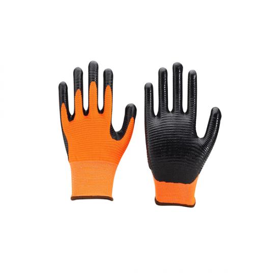Ръкавици от текстурирано полиестерно трико EMA ORANGE