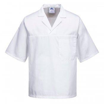 Готварска риза с къс ръкав