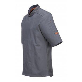 Сива готварска куртка с къс ръкав MeshAir Pro