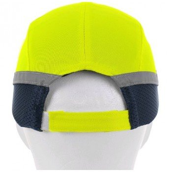 Светлоотразителна противоударна шапка - жълта