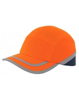 Светлоотразителна противоударна шапка - оранжева