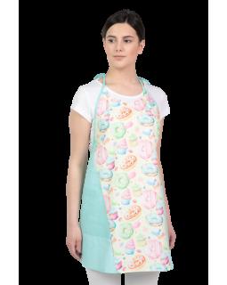Цветна дамска престилка Donuts