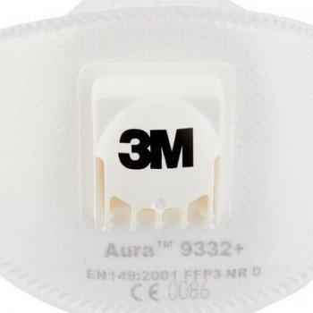 Сгъваем респиратор за частици 3M™ Aura™ 9332+