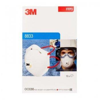 Респиратор за многократна употреба 3M™ 8833, FFP3 R D