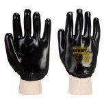 PVC ръкавици с трикотажен маншет
