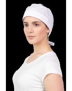 Бяла хирургична шапка